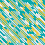Vector Seamless Parallel Geometric Rectangle Diagonal Lines Pattern In Teal and Yellow Royalty Free Stock Photo