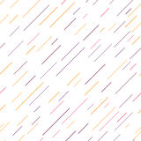 Vector Seamless Parallel thin Color Lines Pattern Background with diagonal stripes. Royalty Free Stock Images