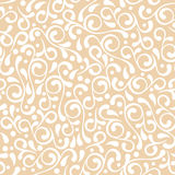 Vector seamless pastel beige flourish pattern Royalty Free Stock Image