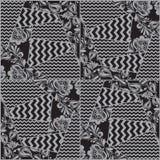 Vector seamless patchwork pattern Stock Photos