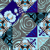 Vector seamless patchwork pattern. oriental or russian design Stock Image