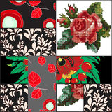 Vector seamless patchwork pattern. oriental or russian design Royalty Free Stock Image