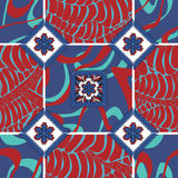 Vector seamless patchwork pattern. oriental or russian design Royalty Free Stock Photography