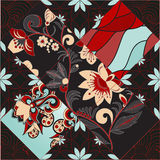 Vector seamless patchwork pattern. oriental or russian design Stock Photos