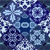 Vector seamless patchwork pattern. oriental or russian design Stock Photography