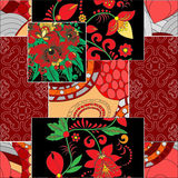 Vector seamless patchwork pattern. oriental or russian design Stock Photo