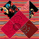 Vector seamless patchwork pattern. oriental or russian design Royalty Free Stock Photo