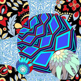 Vector seamless patchwork pattern. slavs or russian design Royalty Free Stock Images