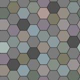 Vector seamless patchwork tiles floor. Pattern of painted glazed ceramic tilework. Colorful tiles floor ornament royalty free illustration