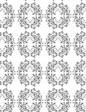 VECTOR SEAMLESS PATTERN. WITH BLACK ORNAMENT Stock Image