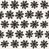 Vector seamless pattern. Abstract background with floral brush strokes. Monochrome hand drawn texture. Vector seamless freehand pattern. Abstract background with stock illustration
