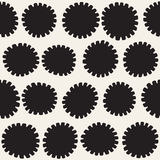 Vector seamless pattern. Abstract background with floral brush strokes. Monochrome hand drawn texture Royalty Free Stock Images