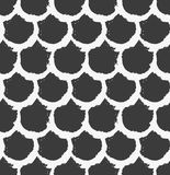 Vector seamless pattern. Abstract background with round brush strokes.  Royalty Free Stock Photo