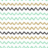 Vector seamless pattern. Abstract background with zigzag brush strokes. Stock Photo