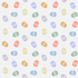 Vector seamless pattern with abstract easter eggs. Easter eggs vector pattern flat style.Easter egg isolated vector seamless pattern on a white background.Easter Royalty Free Illustration