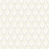 Vector seamless pattern with abstract feathers.  Stock Image