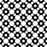 Vector seamless pattern, abstract floral geometric texture. Monochrome ornamental texture, floral seamless pattern, simple black & white vector illustration with Royalty Free Stock Image