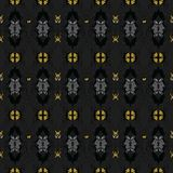 Vector seamless pattern with abstract floral textures stock illustration