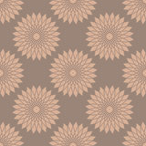 Vector seamless pattern with abstract flowers. Stock Photos