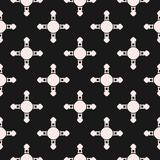 Background with simple crossing figures, circles, smooth squares. Vector seamless pattern, abstract geometric background with simple crossing figures, circles Stock Photography