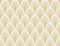 Vector seamless pattern abstract palm branch pattern white and gold. For wallpapers, textile, packaging, design of luxury products - Vector Illustration stock illustration