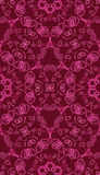 Vector seamless pattern with abstract red and pink Stock Photo