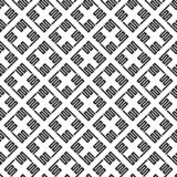 Vector seamless pattern of abstract square line royalty free illustration
