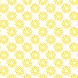 Vector seamless pattern of abstract sunflower in minimalist style stock photography