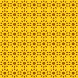 Vector seamless pattern of abstract suns in bright color royalty free stock photo