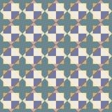 Vector seamless pattern of abstract tiles stock illustration