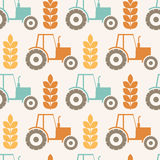 Vector seamless pattern on agricultural theme Stock Image