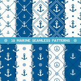 Vector seamless pattern with anchor Stock Images