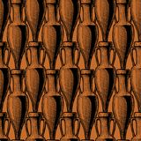 Seamless pattern with amphora. Vector seamless pattern with ancient amphora Royalty Free Stock Images