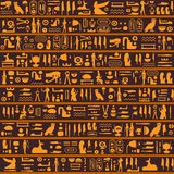 Vector seamless pattern with ancient egyptian hieroglyphs royalty free stock photos