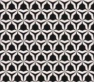 Vector seamless pattern with angular figures, triangular grid. Geometric monochrome texture, vector seamless pattern with simple shapes, angular figures Stock Images