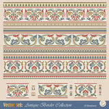 Vector seamless pattern in antique style royalty free illustration