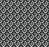 Vector seamless pattern in Arabian style. Abstract graphic monochrome background with thin wavy lines, delicate lattice. Black and white texture of mesh, lace Royalty Free Stock Images