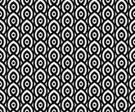 Vector seamless pattern in Arabian style. Abstract graphic monochrome background with thin wavy lines, delicate lattice. royalty free illustration