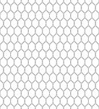 Vector seamless pattern in Arabian style. Abstract graphic monochrome background with thin wavy lines, delicate lattice. Black and white texture of mesh, lace Royalty Free Stock Photos