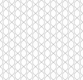 Vector seamless pattern in Arabian style. Abstract graphic monochrome background with thin wavy lines, delicate lattice. Black and white texture of mesh, lace Stock Images