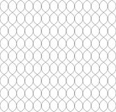 Vector seamless pattern in Arabian style. Abstract graphic monochrome background with thin wavy lines, delicate lattice. Black and white texture of mesh, lace Stock Photo