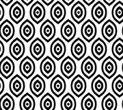 Vector seamless pattern in Arabian style. Abstract graphic monochrome background with thin wavy lines, delicate lattice. Black and white texture of mesh, lace Royalty Free Stock Photography