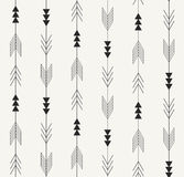 Vector seamless pattern. Arrows from traditional Mexican Aztec culture in trendy outlined style. Modern repeating background. Royalty Free Stock Photos