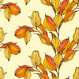 Vector seamless pattern with autumn leaves Stock Photography