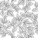 Vector seamless pattern with autumn leaves. Royalty Free Stock Image