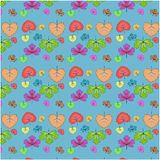 Vector seamless pattern of autumn leaves. royalty free illustration