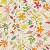 Vector seamless pattern with autumn leaves Royalty Free Stock Images