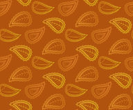 Vector seamless pattern with autumn leaves Stock Photo