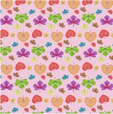 Vector seamless pattern of autumn leaves. stock images