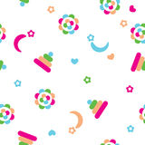 Vector seamless pattern for baby Royalty Free Stock Images